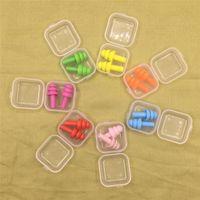 Orelha de silicone suave Plugs Isolamento acústico Ear Proteção Earplugs Anti Noise ronco dormir Plugs para redução de ruído de viagem