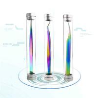 TAMAX MP019 Rainbow Falsbe Reaeshes Щиперы ресниц пинцет антистатическая точность для ресничных ресниц инструменты волос ремесло