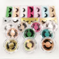 Nuova scatola di imballaggio in ciglia finte acriliche Logo personalizzato Scatole di ciglia di visone 3D finte Custodia in cristallo trasparente con vassoi
