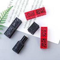 12.1mm Noir Rouge Rouge à lèvres Tubes Vider Rechargeables DIY Lip Gloss Baume à lèvres contenants de cosmétiques Outil Maquiagem Emballage 200pcs / lot