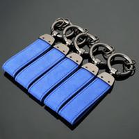 3D bleu métal + cuir porte-clés porte-clés porte-clés intérieur pour R / m Tech M s Port m3 m5 x1 x3 E46 E39 E60 F30 E90 F30 F30 E3