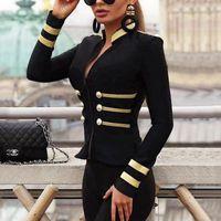 Donne Blazer Suit Slim Jacket pulsanti casuali delle donne cappotto Cardigan Outwear Tops