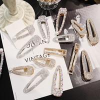 2019 Horquillas de cristal completo Accesorios para el cabello de mujer Clips de perlas Cabello estilo coreano Niñas Clips dulces Barrettes