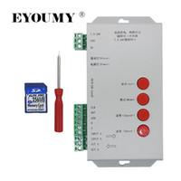 Contrôleur CC 5 ~ 24V de pixels de la carte SD Eyoumy LED T1000S 128 pour lampe à bande lumineuse WS2801 WS2811 WS2812B LPD6803 LED