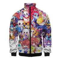 2019 Undertale 3D Zipper Jackets Nuova vendita calda Cool Coat Visual Impact vestire 4XL Plus