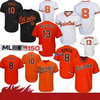 8 Cal Ripken Jr. Baltimores # Oriol Jersey 13 Manny Machado 12 Roberto Alomar 10 Adam Jones Trikots Top Qualität