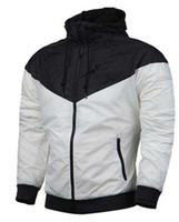 Marka Tasarımcısı Ceket nike Moda Rüzgarlık Desen Ile 3 Lüks Erkek Ceket Giyim Kadın Kapüşonlu Kaykay Streetwear Beyaz Giysiler