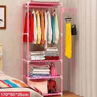Einfache Metall Eisen Kleiderständer Schlafzimmer Hanger Mode Kreative Assembled Standkleiderständer Kleideraufbewahrung Veranstalter T200319