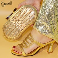 Capputine New Arrival African Elegant Pumps Shoes And Bag Se...