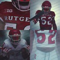 Rutgers Scarlet Knights 2020 Novo Uniforme Nick Brooks Geo Baker Caleb McConnell Akwasi Yeboah Ron Harper Jr. Johnson Ncaa Football Jersey