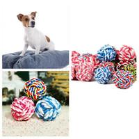 Brinquedos para animais de estimação resistente ao desgaste desgaste de algodão corda bola cão brinquedo mastigar mordida molar brinquedo pet suprimentos 3 tamanho da416