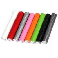 200x20cm bricolage 3D en fibre de carbone vinyle Wrap rouleau de film autocollant de voiture Accueil DECALQUE - Noir