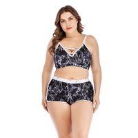 Yeni Plus Size XL-XXXXL Bikini Mayo Kadınlar Retro Büyük Sütyen Push Up Mayo Kadın Yaz Mayo Meydanı Yıkanma Suit kesti yazdır
