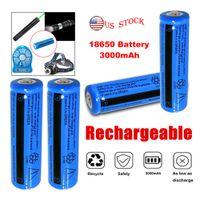 Großhandel Hohe Qualität 11.1W Wiederaufladbare 18650 Batterie 3000mAh 3.7V BRC Li-Ion-Batterie für Taschenlampe Fackel Laser Stift Scheinwerfer