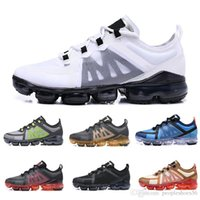 nike Vapormax air max airmax 2019 New Run Utility Men Designer Shoes Top Black Anthracite White Reflect Silver Zapatillas de deporte Zapatillas deportivas