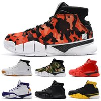 6024bba46f94 Cheap Kobe 1 Protro Kids Basketball Shoes Men Purple Close Out Mamba  Protrotv Undefeated UND Fade Devin Booker PE Fashion Sport Shoe Sneaker