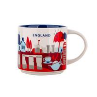 Orijinal Kutusu İngiltere City 14 oz Kapasitesi Seramik Starbucks İl Mug İngiliz Şehirler En İyi Kahve Mug Kupası