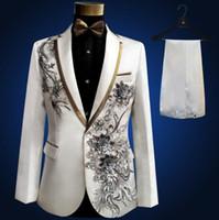 Blazer мужской костюм с брюками мужские свадебные костюмы костюма певец сцена одежда Ternos Masculino формальное платье