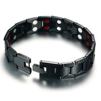 الصحة المغناطيسي العلاج سوار 4 في 1 أزياء الفولاذ المقاوم للصدأ أساور الرجال مجوهرات حزب مهرجان هدية LJJ-TA1864