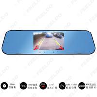 """Carro DVR 4.3"""" Espelho Retrovisor 1080p Dual Lens Estacionamento Video Recorder traço Camera completa Noite HD Vision # 1716"""