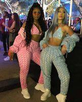 Rose Samt Damen Designer Trainingsanzüge 2 Stück Hosen Süße sexy dünne langärmelige Kapuzenverläufe Reißverschlussanzüge Mode Frauen Trainingsanzüge