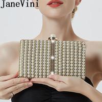 JaneVini 2019 мода Жемчужина сумочка Bling стразами свадебная сумка для женщин цепи Crossbody вечерние свадебные сумки коктейль Пром кошелек