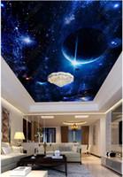Оптово-интерьер потолка 3D обои на заказ фрески обои Большая фантазия Звездное небо Зенит Фреска Потолок Papel де Parede