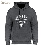 Game of Thrones Hoodie Männer 2018 Winter Herbst Fleece Warme Kapuzenpulli Wolf Slim Fit Leichte Hoodies Herren Für Gamer