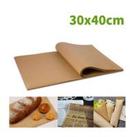 Pergaminho papel manteiga Sheets antiaderente Precut papel vegetal Perfeito para o cozimento Grelhar Air Fryer churrasco JK2003