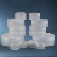 500pcs / lot 3g 5g 10g 30g 50g 100g 오목한 바닥 흰색과 명확한 빈 크림 항아리 리필 가능한 병 샘플 화장품 컨테이너