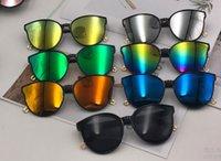 가장 저렴한 패션 서클 프레임 선글라스 문자 C 반사 선글라스 많은 색상과 스타일 128을 선택할 수 있습니다