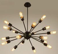 Sputnik Atomic Starburst Luz Lâmpada Lustre Meados do século Moderno Eames luminária suspensão vintage iluminação 12/18 cabeças LLFA