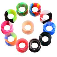 11 paires par couleur de mélange de beaucoup de tunnels oreille silicone homme WOMANS Earlets Jauges Body Fashion Piercing chair Bijoux oreille de haute qualité tunnels Expand
