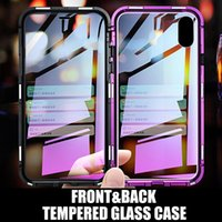 Magnetic Adsorption Front and Back Tempered Glass Full cover...
