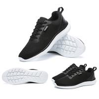 2019 إمرأة جديد رجالي الاحذية أسود رمادي أبيض تشغيل المدربين الرياضية أحذية رياضية الصيف تنفس محلية الصنع ماركة صنع في الصين حجم 39-44