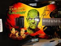 희귀 kirk Hammett LTD KH-3 Karloff 미라 일렉트릭 기타 Original EMG Pickups, Real Floyd Rose Tremolo, Eye Kandi by Airbrushed