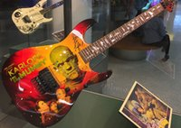 핸드 워크 페인트 Kirk Hammett Ltd KH-3 Karloff 미라 일렉트릭 기타 플로이드 장미 Tremolo Bridge Whammy Bar, Black Hardware, Reverse Headstock