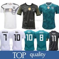 da31f9f1e93 Germany 13 MULLER Home Away Soccer Jersey 10 OZIL 8 KROOS Soccer Shirt 5  HUMMELS 17 BOATEN Football jerseys 2018 World Cup