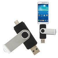 2019 상단 도매 OTG USB 플래시 드라이브 128GB 64 기가 바이트 32 기가 바이트 16 기가 바이트 8 기가 바이트 펜 드라이브 스마트 전화 외장형 스토리지 펜 드라이브 안드로이드의 USB 스틱