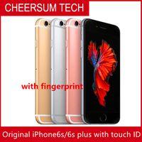 الأصلي تجديد فون 6S 6S بالإضافة إلى دعم بصمة 4.7''5.5 '' كاميرا مقفلة iphone6s ثنائي النواة 2GB RAM 16GB 64GB 128GB ROM 12MP
