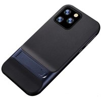 جديد Kickstand لحالة الهاتف لفون برو 11 ماكس XR XS X 8 زائد PC حامل TPU ضد الصدمات الترا سليم الغلاف الخلفي الثابت