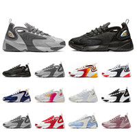 2019 Whosale Rainbow Creamy White nike Zoom 2K M2K scarpe da corsa da uomo Tekno Race Red Royal Blue Dark Grey sneaker sportiva da uomo
