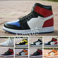 Nike Air Jordan 1 AJ1 Retro Mens 1 high og basketball shoes 1s NRG igloo banned chameleon shadow white black toe elephant print Chicago royal Track red sneakrs p05