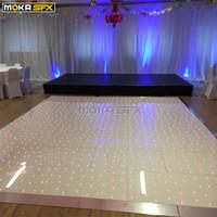 12 * 10 Meter weiße LED Disco Nachtclub LED Tanzfläche Indoor LED Boden drahtlose Fernbedienung Licht Lichtboden für Hochzeiten