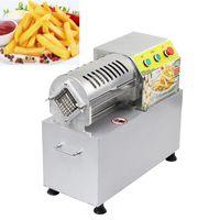 Vente chaude électrique commerciale de pommes de terre frites Chip Cutter coupe légumes machine en acier inoxydable Fruit Broyage Slicer 900W
