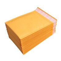 Neue 100pcs / lots Bubble Mailer Gepolsterte Umschläge Verpackung Versand Taschen Kraft Bubble Mailing Umschlag Taschen 130 * 110mm Epacket frei