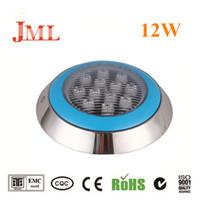 JML 12W Éclairage sous-marin 24V Acier inoxydable IP68 RGB Blanc Blanc chaud White LED Piscine lumières en toute sécurité