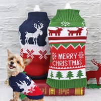 Soft Woolen Dog Sweater For Christmas Warm Winter Cat Dogs K...