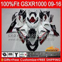Injectie voor Suzuki GSXR1000 2009 2010 2011 2012 2014 2015 2016 16HC.15 GSXR-1000 K9 Wijnrood stock GSXR 1000 09 10 11 12 13 15 16 Kuip