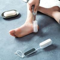 Pediküre Foot Spa 4 in 1 Fuß Bürste + Bimsstein + Rasp Datei + Exfoliating Stein Fußpflege abgestorbene Hautentfernung Pediküre Werkzeug